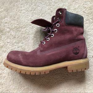 Maroon Timberland Boots